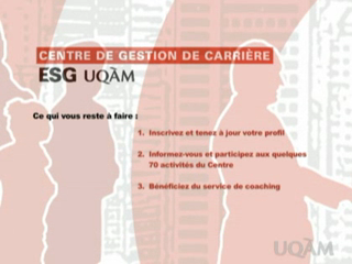 Centre de gestion de carrière de l'ESG UQAM
