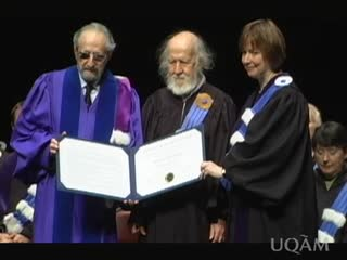 Attribution d'un doctorat honoris causa à Hubert Reeves