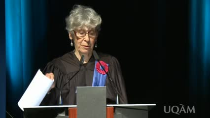 Attribution d'un doctorat honoris causa à Joan W. Scott