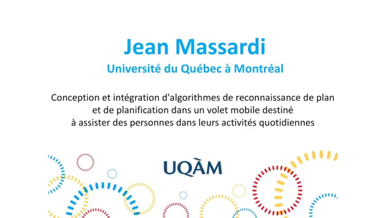 Ma thèse en 180 secondes - Jean Massardi