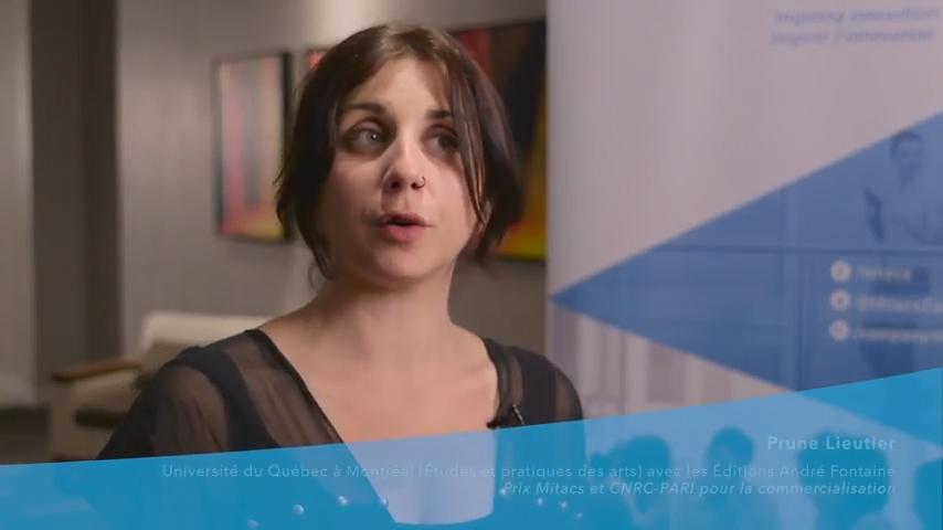Prune Lieutier, lauréate du prix Mitacs et CNRC-PARI pour la commercialisation