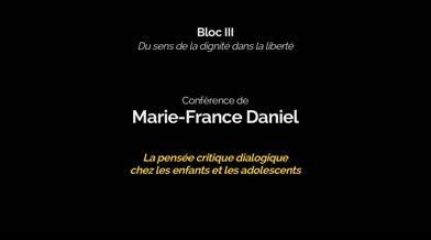 Conférence: «La pensée critique dialogique chez les enfants et les adolescents»