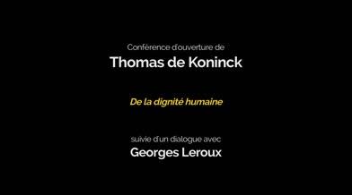 Colloque du GREE 2016: Conférence d'ouverture «De la dignité humaine»