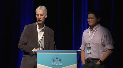 Conférence WWW2016: «Cérémonie d'ouverture – Discours des PC Chairs»