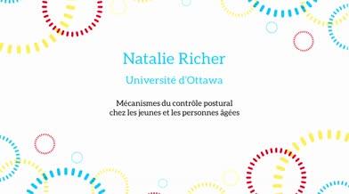 Ma thèse en 180 secondes - Natalie Richer
