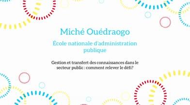Ma thèse en 180 secondes - Miché Ouédraogo