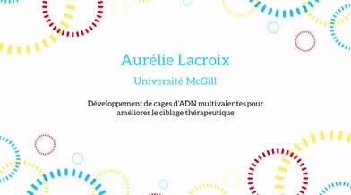 Ma thèse en 180 secondes - Aurélie Lacroix