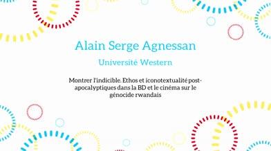 Ma thèse en 180 secondes - Alain Serge Agnessan