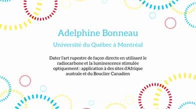Ma thèse en 180 secondes - Adelphine Bonneau