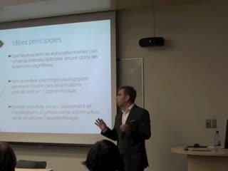 Conférence: «À la recherche de la pierre de Rosette des neurosciences éducationnelles»